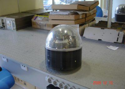 Κάμερα υποβρυχίου οχήματος καταστροφής ναρκών  AN/SLQ48 πρίν από την αποσυνάρμολογηση της  στα εργαστήρια της εταιρειας μας.