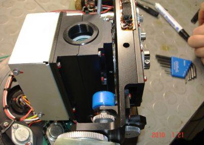 Κάμερα υποβρυχίου οχήματος καταστροφής ναρκών  AN/SLQ48 κατά την διαδικασία  επισκευής της  στα εργαστήρια της εταιρειας μας.