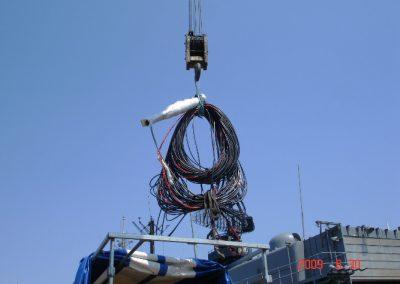 Υποβρύχιο καλώδιο αντιμέτρων τορπιλών συστήματος  Νixie σε διαδικασία μεταφοράς προς την εταιρεία μας πρίν απο την επισκευή του.