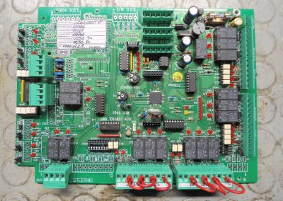 Electronic central automation system board from Azimuth yacht during the repair process.